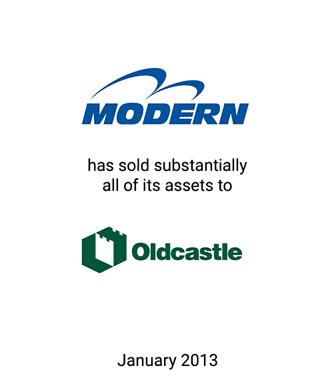 Griffin Advises Modern Precast Concrete, Inc., Debtor-in-Possession on 363 Sale of Assets