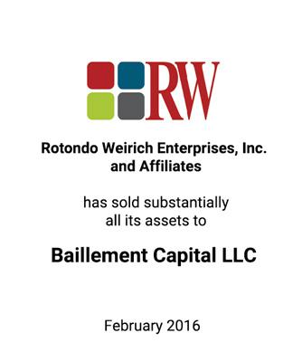 Griffin Serves as Exclusive Financial Advisor to Rotondo Weirich Enterprises, Inc. and Affiliates