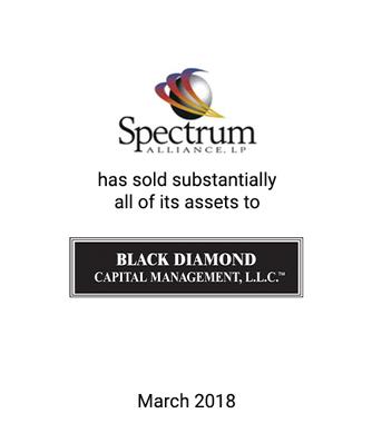 Griffin Advises Spectrum Alliance, LP on 363 Sale of Assets to Black Diamond Capital Management, LLC