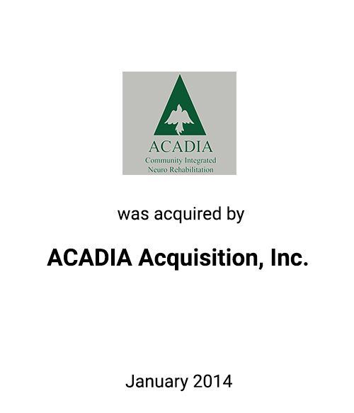 Griffin Advises ACADIA, Inc., a Post-Acute Rehabilitation Services Provider, in a Sale to Community Services Group