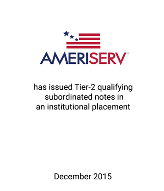 AmeriServ Accesses Inexpensive Capital to Redeem SBLF Preferred Stock