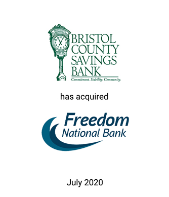 Griffin Advises Bristol County Savings Bank in its Purchase of Freedom National Bank