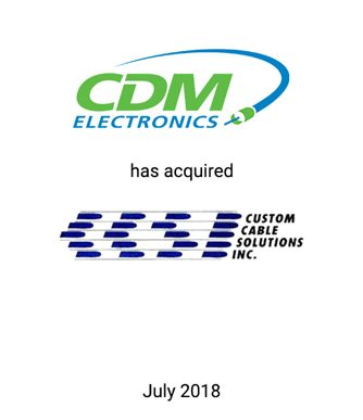Griffin Serves as Investment Banker to CDM Electronics in Acquisition of Custom Cable Solutions