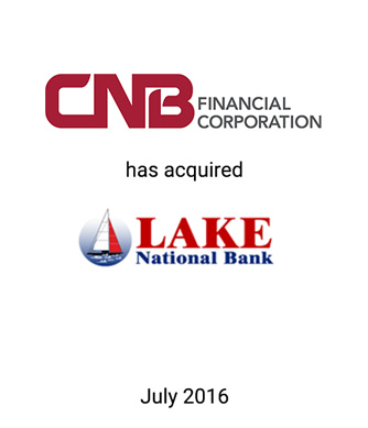 Griffin Financial Group Advises CNB Financial Corporation in its Acquisition of Lake National Bank