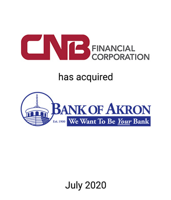 Griffin Advises CNB Financial Corporation in its Acquisition of Bank of Akron