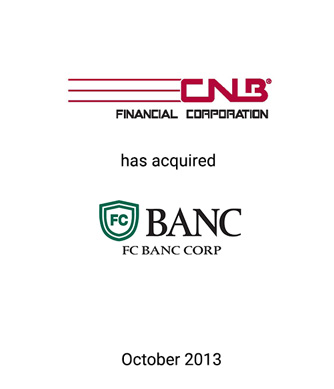 Griffin Financial Group Advises CNB Financial Corporation in its Acquisition of FC Banc Corp.