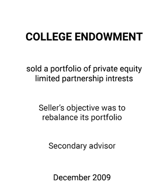 Griffin Serves as Financial Advisor for a College Endowment