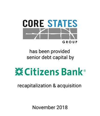Griffin Represents Core States Group in Acquisition Financing
