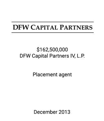 DFW Capital Partners Closes Fund IV at $162.5 Million, Oversubscribed and Exceeded Target