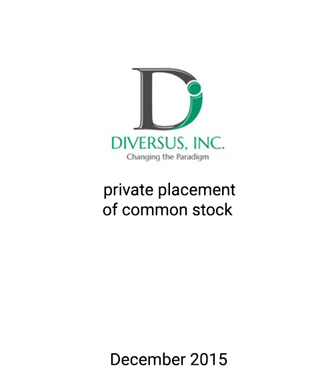 Griffin Serves as Exclusive Financial Advisor and Placement Agent to Diversus, Inc.