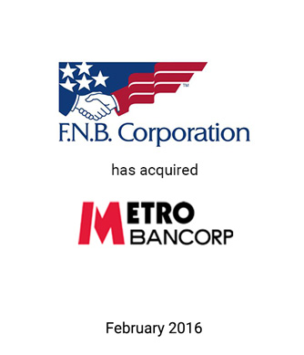 Griffin Provides Fairness Opinion to F.N.B. Corporation