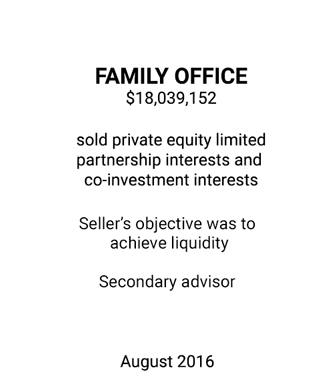 Griffin Advises Family Office on Secondary Sale