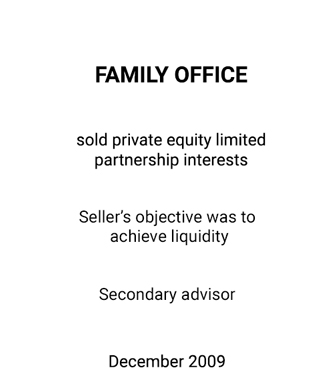 Griffin Serves as Financial Advisor to a Family Office