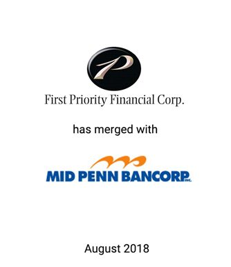 Griffin Advises First Priority Financial Corp. in Merger with Mid Penn Bancorp