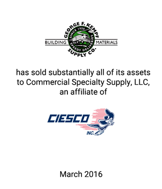 Griffin Financial Group Advises George F. Kempf Supply Co., Inc., in an Article 9 Sale