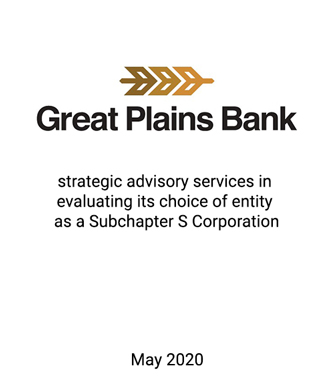 Griffin Financial Group Advises Management and the Board of Directors in Evaluating its Choice as a Subchapter S Corporation