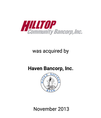 Griffin Financial Group Serves as Advisor to Hilltop Community Bancorp, Inc. in Connection With its Sale to Haven Bancorp, Inc.