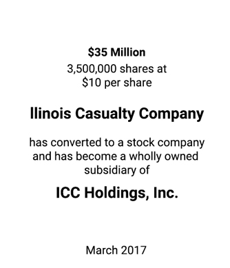 Griffin Completes Unique Stock Offering for Illinois Casualty