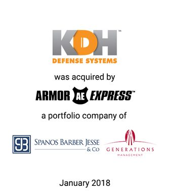 Griffin Serves as Investment Banker to KDH Defense Systems in its Sale to Armor Express