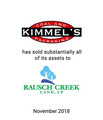 Griffin Serves as Exclusive Investment Banker to Kimmel's Coal and Packaging, Inc.