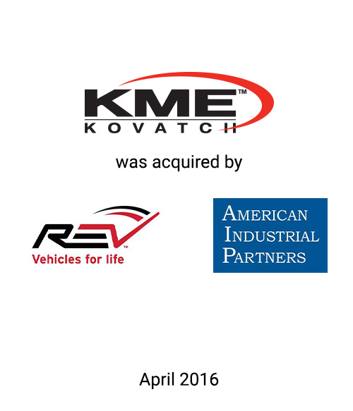 Griffin Advises Kovatch Mobile Equipment Corp. and Affiliates in its Sale to REV Group