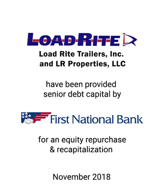 Griffin Represents Load Rite Trailers in Leveraged Equity Repurchase
