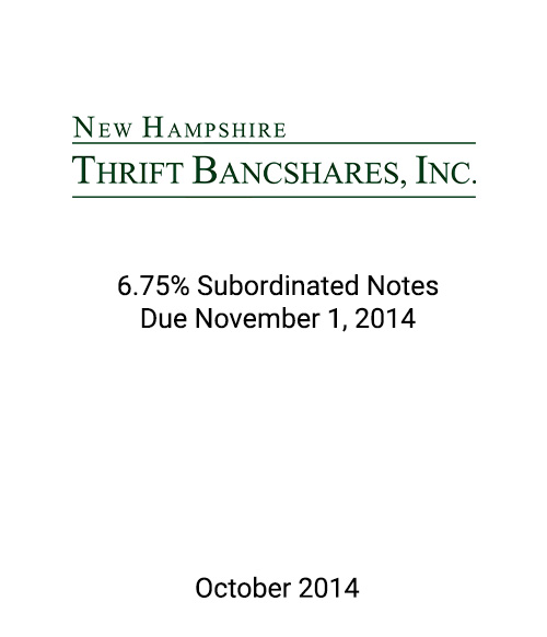 Griffin Serves as Advisor and Placement Agent to New Hampshire Thrift Bancshares, Inc. in Connection With its Private Placement of Subordinated Notes