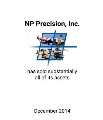 Griffin Advises NP Precision, Inc. on Sale of Assets