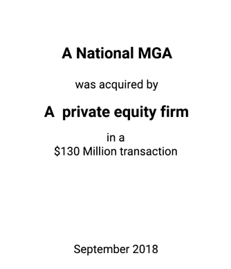 Griffin Serves as Financial Advisor to the MGA