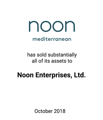 Griffin Serves as Exclusive Investment Banker to Noon Mediterranean, Inc.
