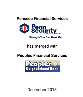 Griffin Financial Group Advises Penseco Financial Services Corp. in its Merger With Peoples Financial Services Corp.