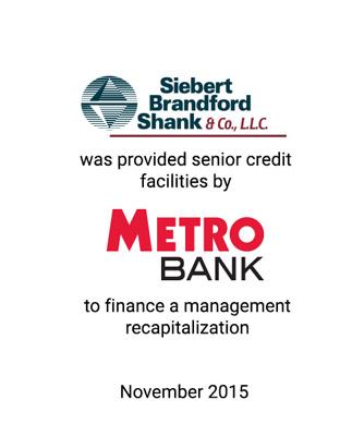 Griffin Serves as Exclusive Financial Advisor to  Siebert Brandford Shank