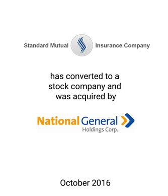 Griffin Serves as Exclusive Financial Advisor to Standard Mutual Insurance Company