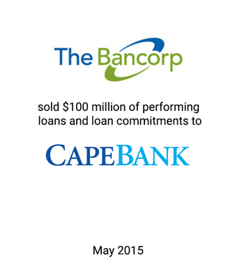 Griffin Serves as the Exclusive Financial Advisor to The Bancorp Bank