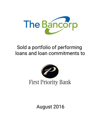 Griffin Serves as Exclusive Financial Advisor to The Bancorp Group