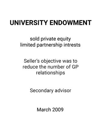 Griffin Serves as Financial Advisor for a University Endowment