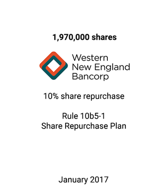 Griffin Serves as Exclusive Repurchase Agent to Western New England Bancorp