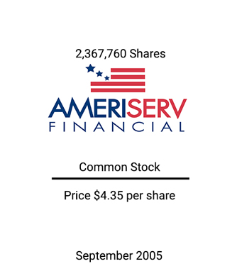 Griffin Serves as Independent Advisor to the Board of Directors of AmeriServ Financial, Inc.