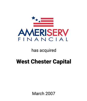 Griffin Serves as Exclusive Financial Advisor to AmeriServ Financial, Inc.