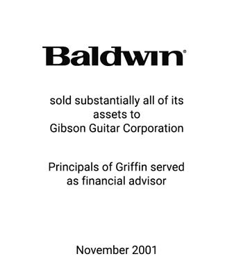 Griffin Serves as financial advisor to Baldwin