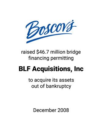 Griffin Arranges Financing for Albert Boscov and BLF Acquisitions, Inc.
