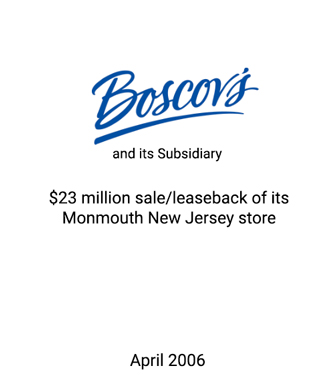 Griffin Serves as Exclusive Advisor to Boscov's, One of Nation's Largest Family Owned and Operated Businesses