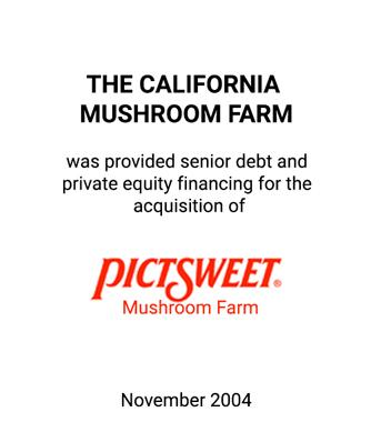 Griffin Serves as Financial Advisor to The California Mushroom Farm