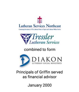 Griffin served as financial advisor to Diakon Lutheran Social Ministries