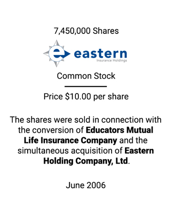 Griffin Serves as Financial Advisor to Eastern Holding Company, Ltd.