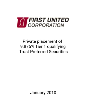Griffin Serves as Financial Advisor to First United Corporation