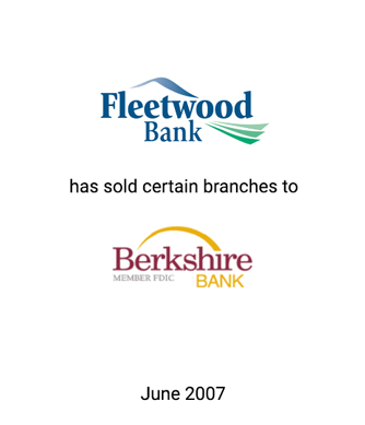 Griffin Serves as Exclusive Financial Advisor to Fleetwood Bank