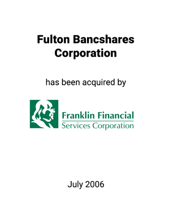 Griffin Serves as Financial Advisor to Fulton Bancshares Corporation