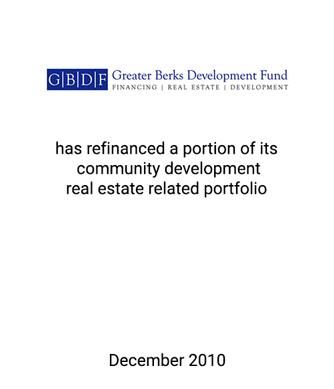 Griffin Assists Greater Berks Development Fund Refinance Real Estate Portfolio
