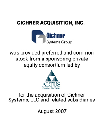 Griffin Represents Management Team in its Acquisition of Gichner Systems Group, LLC